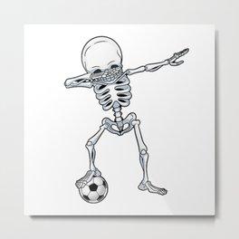 Dabbing Skeleton Skull - Dab Skull Metal Print