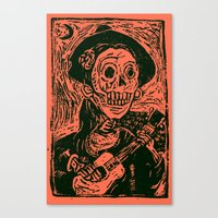 calavera Canvas Prints featuring calavera  by MC2205