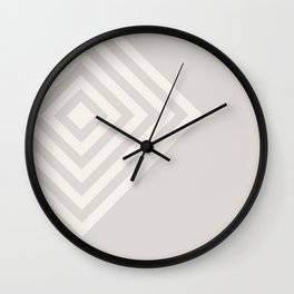 70's Retro Diamonds Cream - 3 of Series 70's Retro Wall Clock