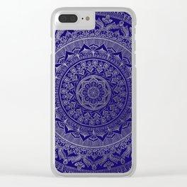 Mandala Royal - Blue & Silver Clear iPhone Case