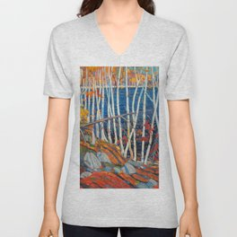 In The Northland (Group Of Seven) by Tom Thomson Canadian Landscape Art Unisex V-Neck