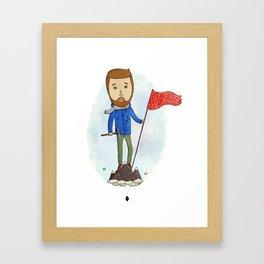 Motivation Mountain Framed Art Print