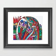 Siva and Shakti Framed Art Print
