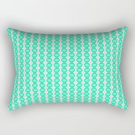 Turquoise Gemstone with Silver Accents Pattern Rectangular Pillow
