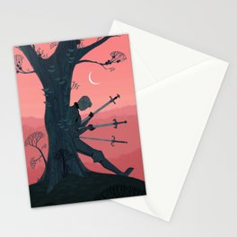3 of Swords Stationery Cards
