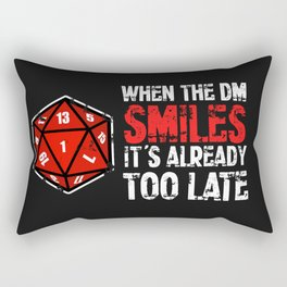 When the Dungeon Master smiles... Rectangular Pillow