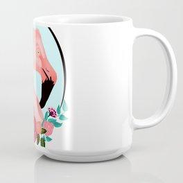 Flamingo with Flowers Coffee Mug
