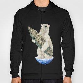 Polar bear & Surf (black) Hoody