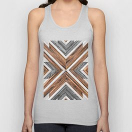 Urban Tribal Pattern No.4 - Wood Unisex Tank Top