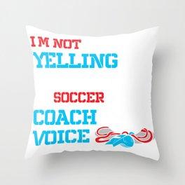 Soccer Coach Soccer Ball Soccer Player  Throw Pillow