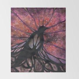 Crow Beginnings Throw Blanket