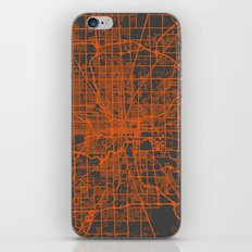 Indianapolis map iPhone & iPod Skin