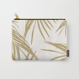 Gold Palm Leaves Dream #1 #tropical #decor #art #society6 Carry-All Pouch