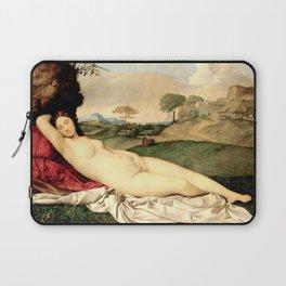 NUDE ART: Sleeping Venus by Giorgione Laptop Sleeve