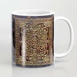 Gilded Leather Tome Coffee Mug