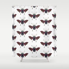 Beetle #4 Color Shower Curtain