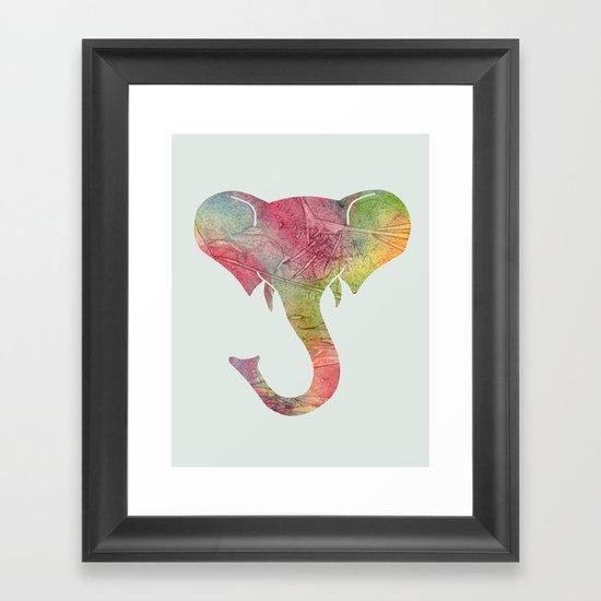 Rainbow Elephant Framed Art Print