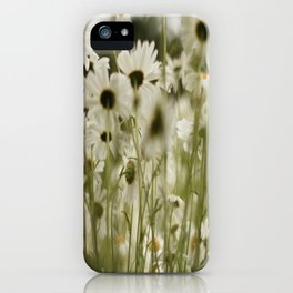 white daisies :) iPhone Case
