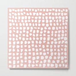 Dots / Pink Metal Print