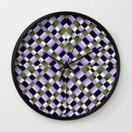 Hypnotic Geometric Pattern Wall Clock