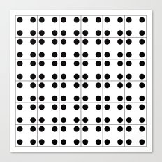 Domino pattern Canvas Print