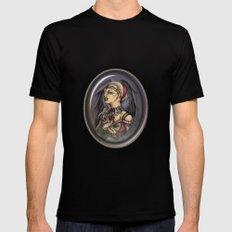 Marooned - Gothic Angel Portrait Mens Fitted Tee Black MEDIUM