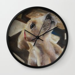 Puppy American Pit Bull Terrier Wall Clock