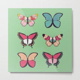 Butterflies collection 01 Metal Print