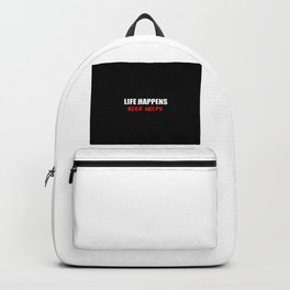 beer helps funny quote Backpack