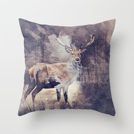 King of the Woods Throw Pillow