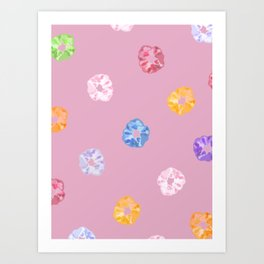 SCRUNCHIE PATTERN Art Print