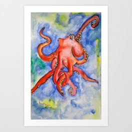 Octo Happy Art Print
