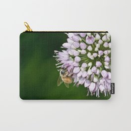 Honey Bee And Lavender Flower Carry-All Pouch