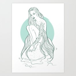Siren Seirēn Art Print