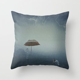 i'm here to protect you Throw Pillow
