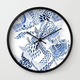 blue dragon on white Wall Clock