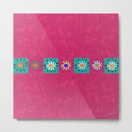 Paracas flowers Metal Print
