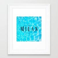 milan Framed Art Prints featuring Milan by Liz Guhl @lizaguhl