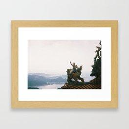 ONWARDS/UPWARDS Framed Art Print