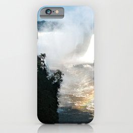 Iguazu Iguassu Waterfall Landscape Panorama Scenery, Brazil Argentina 19 iPhone Case