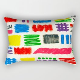 Dribble Scribble Rectangular Pillow