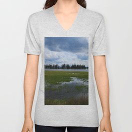 Yellowstone Lake At Pelican Creek Unisex V-Neck