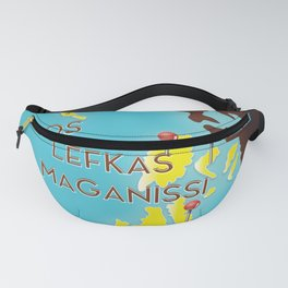 ionian Islands map Fanny Pack