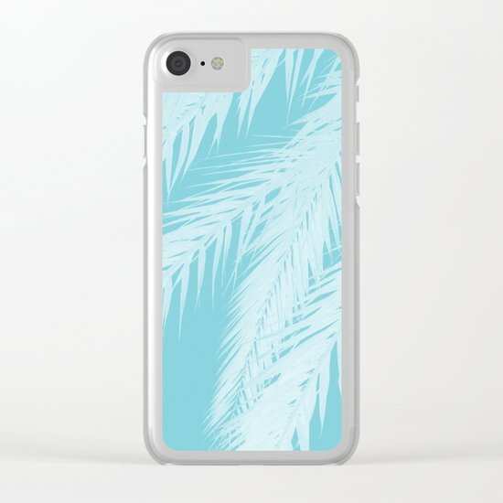 Blue Palm Clear iPhone Case