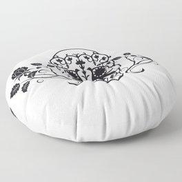 SKULL FLOWER 03 Floor Pillow