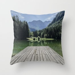 Mountain Masterpiece Throw Pillow