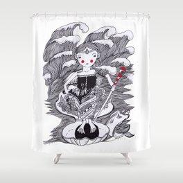 The ocean Queen Shower Curtain