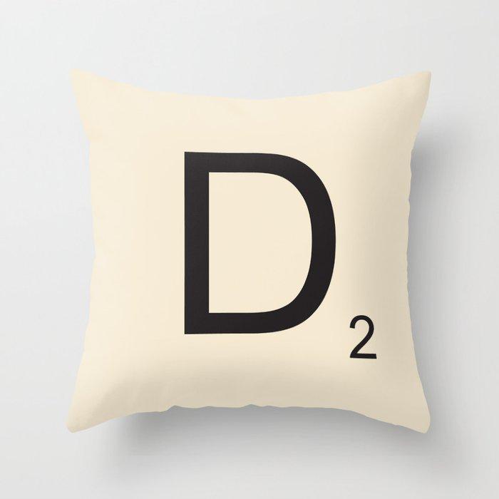 Scrabble Lettre D Letter Deko-Kissen