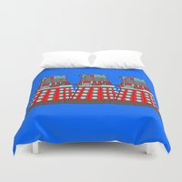 doctor Duvet Covers featuring Doctor Who by Alli Vanes