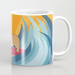 Surfing corgi Coffee Mug
